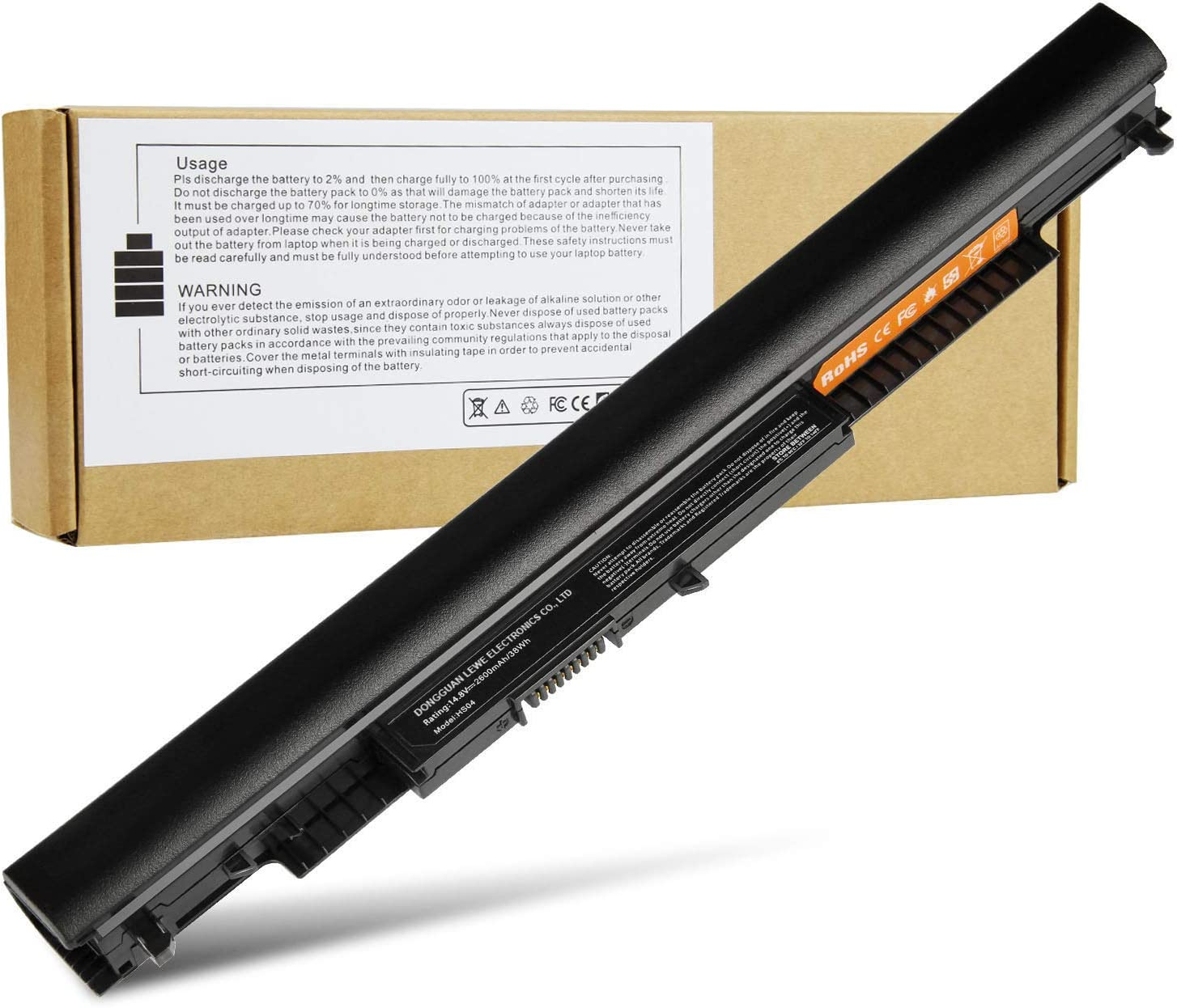 HS04 HS03 Laptop Battery for HP Spare 807956-001 807957-001 807612-421 807611-221 240 G4 15-AY039WM 15-BA079DX TPN-C126 TPN-I119 HSTNN-LB6U HSTNN-DB7I HSTNN-LB6V