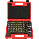 Highking Tool 114pcs Oil Pan Drain Sump Plug Key Thread Repair Tool Kit Set Drain Plug with Carry Case