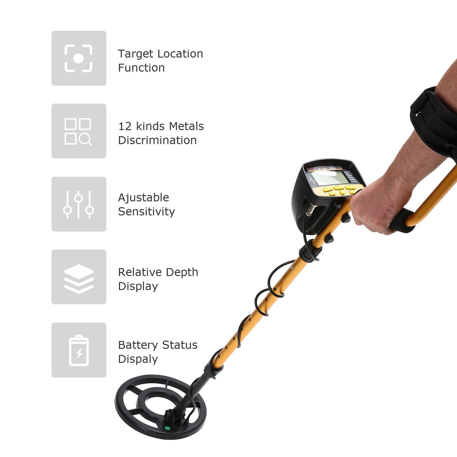 Nalanda Metal Detector 18khz Treasure Hunters Gold The Picture Shows Circuit Detecting Coil Finder With 5 Detection Modes Adjustable Sensitivity And Submersible Search Garden