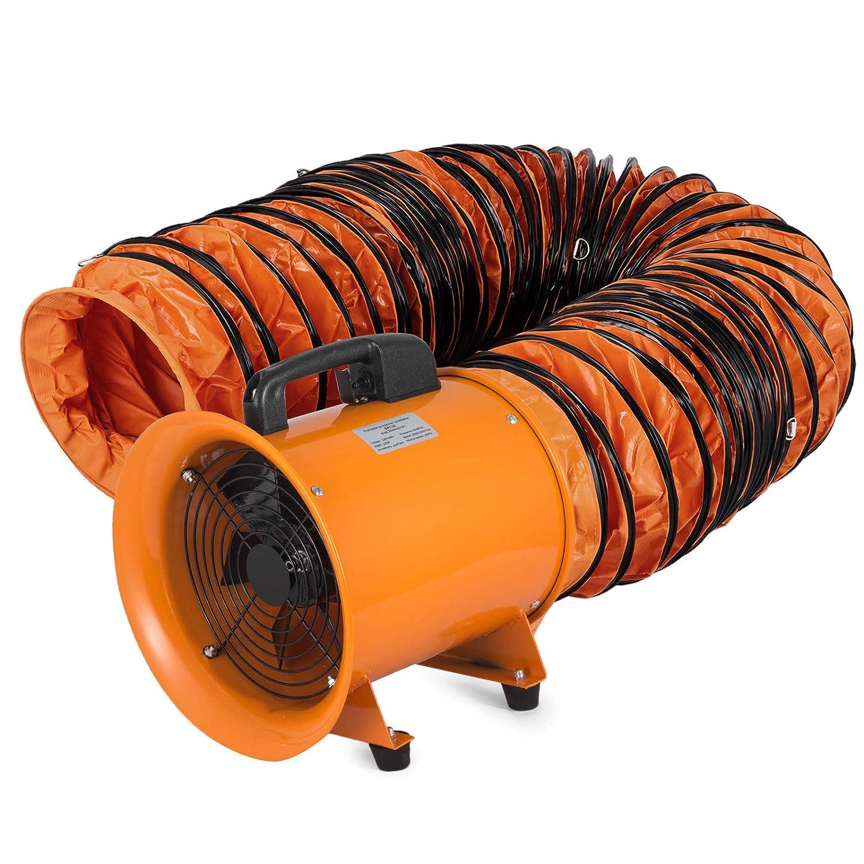 Moracle 220V Ventilador Industrial Port/átil Di/ámetro Axial 250mm Extractor de Aire El/éctrico Ventilador Comercial PVC Conducto 10m