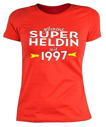 Geburtstags T-Shirt zum 21 Geburtstag Damen T-Shirt Super Heldin seit 1997  Geschenk zum 21. Geburtstag 21 Jahre Geburtstagsgeschenk für Frauen:  Amazon.de: ...