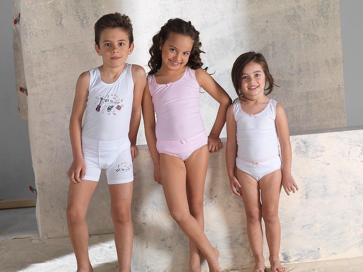 Brix Girls Cotton Briefs Underwear Super Soft Stripe White Panties 3 pk Cotton