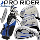 """""""NEW 2016"""" BEN SAYERS PRO RIDER COMPLETE GOLF SET IRONS WOODS PUTTER & STAND BAG"""