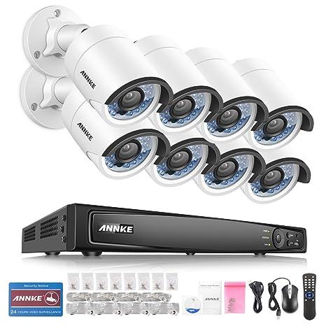 [POE 4.0MP] ANNKE Kit de seguridad 8 cámaras de vigilancia(Onvif H