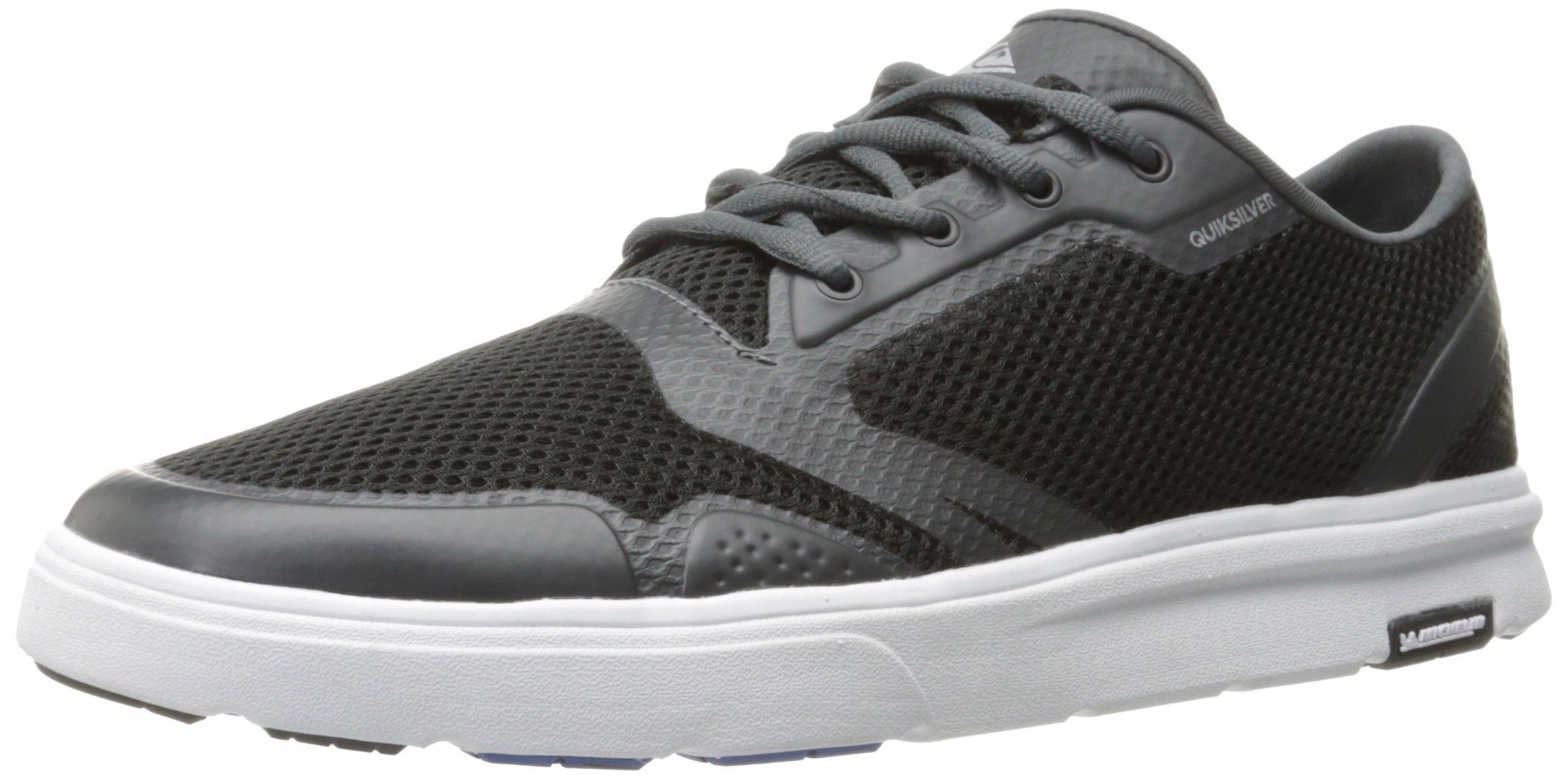 Quiksilver Men's Amphibian Plus Skate Shoe, Black/Grey/White, 9(42) D US