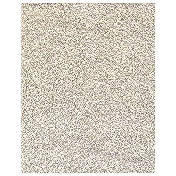 Anji Mountain AMB0651 0058 Silky Shag Area Rug Ivory 5 X 8