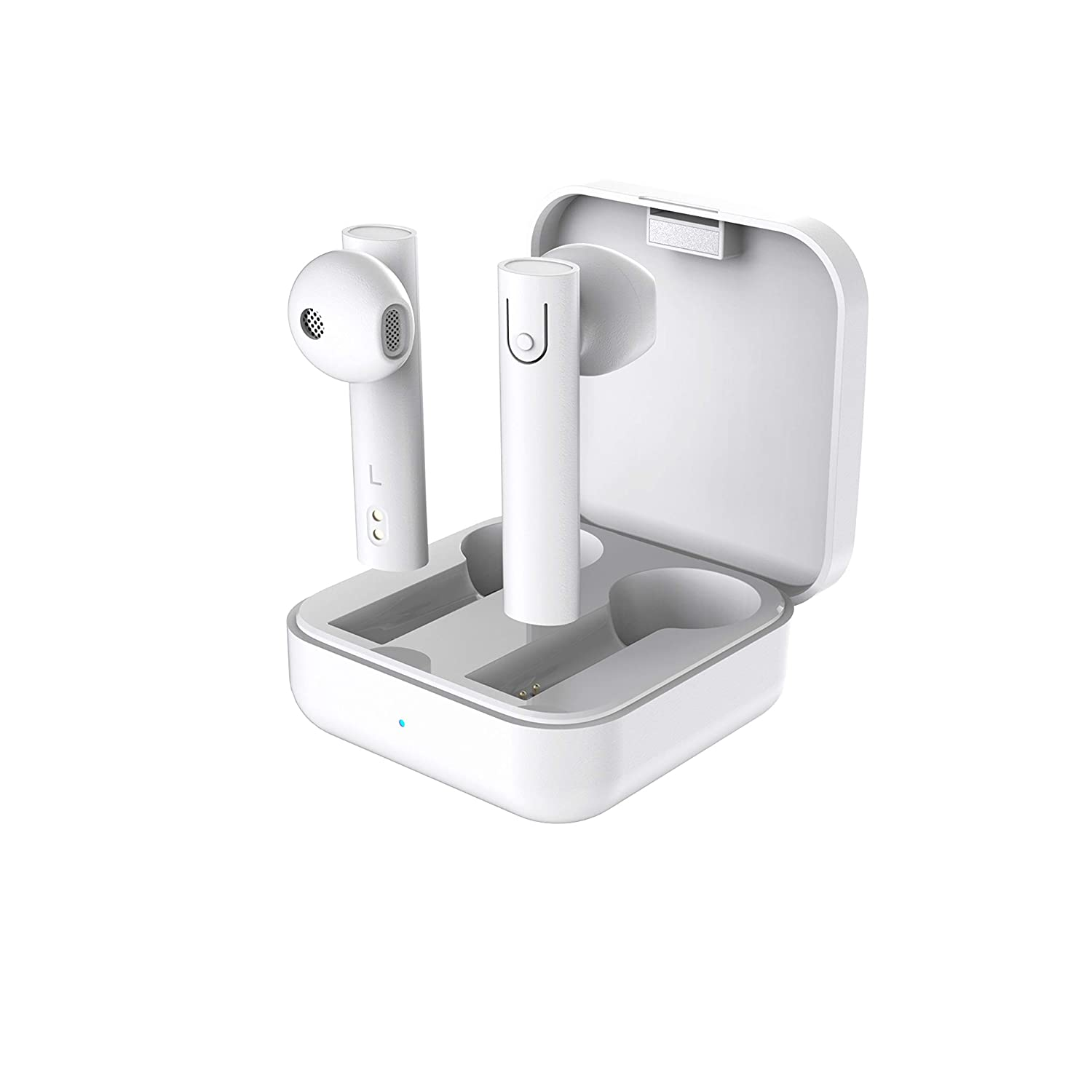 SNOKOR by Infinix iRocker Stix (White) True Wireless Earphones with 14.2mm Dynamic Bass Boost Driver, Type C Quick Charging, Up to 16hrs Playtime, Bluetooth v5.0 and Ultralight Buds