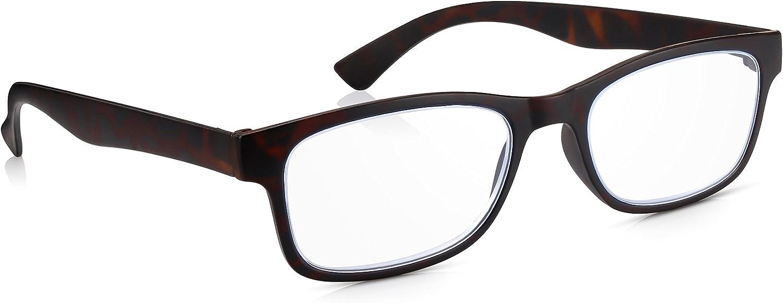 Read Optics con Bloqueo Luz Azul - Gafas para Ordenador de Lectura Hombre/Mujer: Antireflejos + Filtro UV + Antirayadura Difuzer™: Lentes Transparentes Graduadas +2.5 Dioptrías Antifatiga