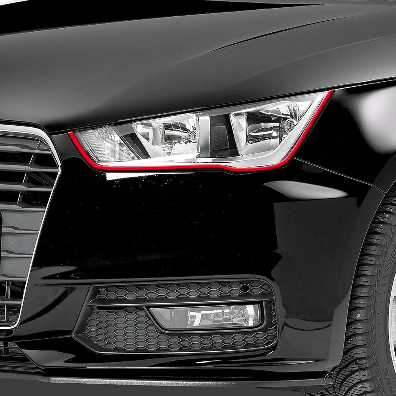 Folie f/ür Autoscheinwerfer Autoaufkleber Tuningsticker Folie B/öser Blick Scheinwerfer Stripes Roter Devil Blick