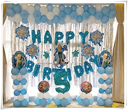 Amazon Com Frozen Birthday Party Decoration Birthday Balloon