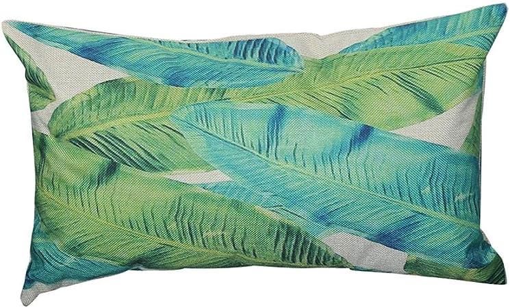 Housses De Coussin Canap/é Angelof Taie DOreiller Vert Rectangulaire Coussin Color/é Motif Pour Canap Housse Oreiller D/éCoratif Salon Chic 30X50 A