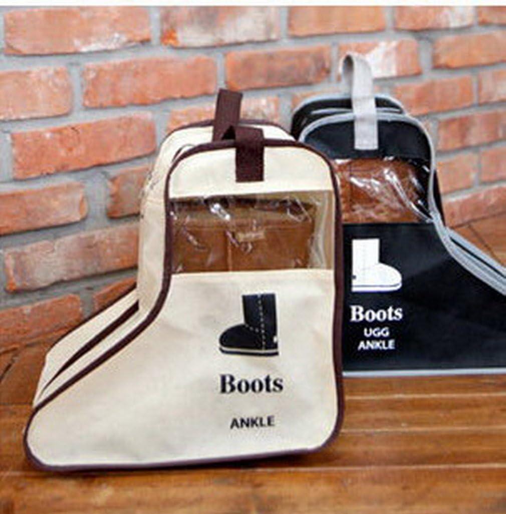 #A Beige, H/öhe- 29cm Norcci Schuhaufbewahrungstasche Stiefeltasche Stiefelbeutel Schuhe Stiefel Boots Organizer Tasche f/ür Home Reise Tragbar