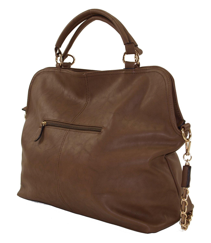 Damen Tasch Handtasche Schultertasche Abendtasche mit Überschlag Mahel