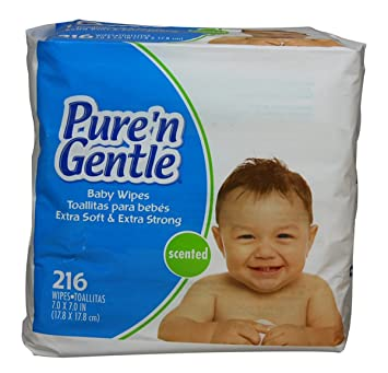 Pure n Gentle Baby Wipes, Pop-up Dispensing, Scented, 864 Count