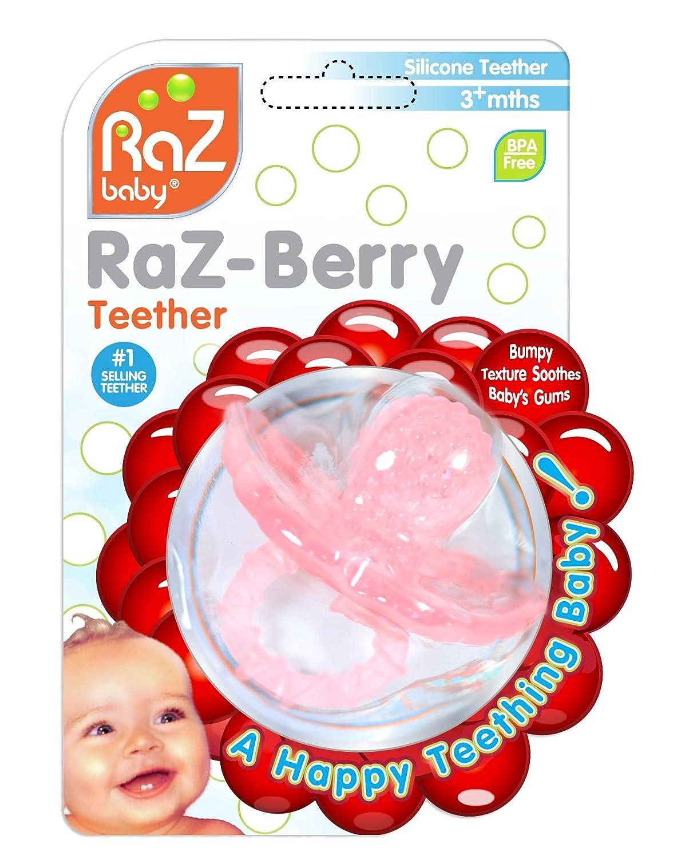 RaZbaby RaZ-Berry Silicon Teether, Pink Raz Baby 009-PT