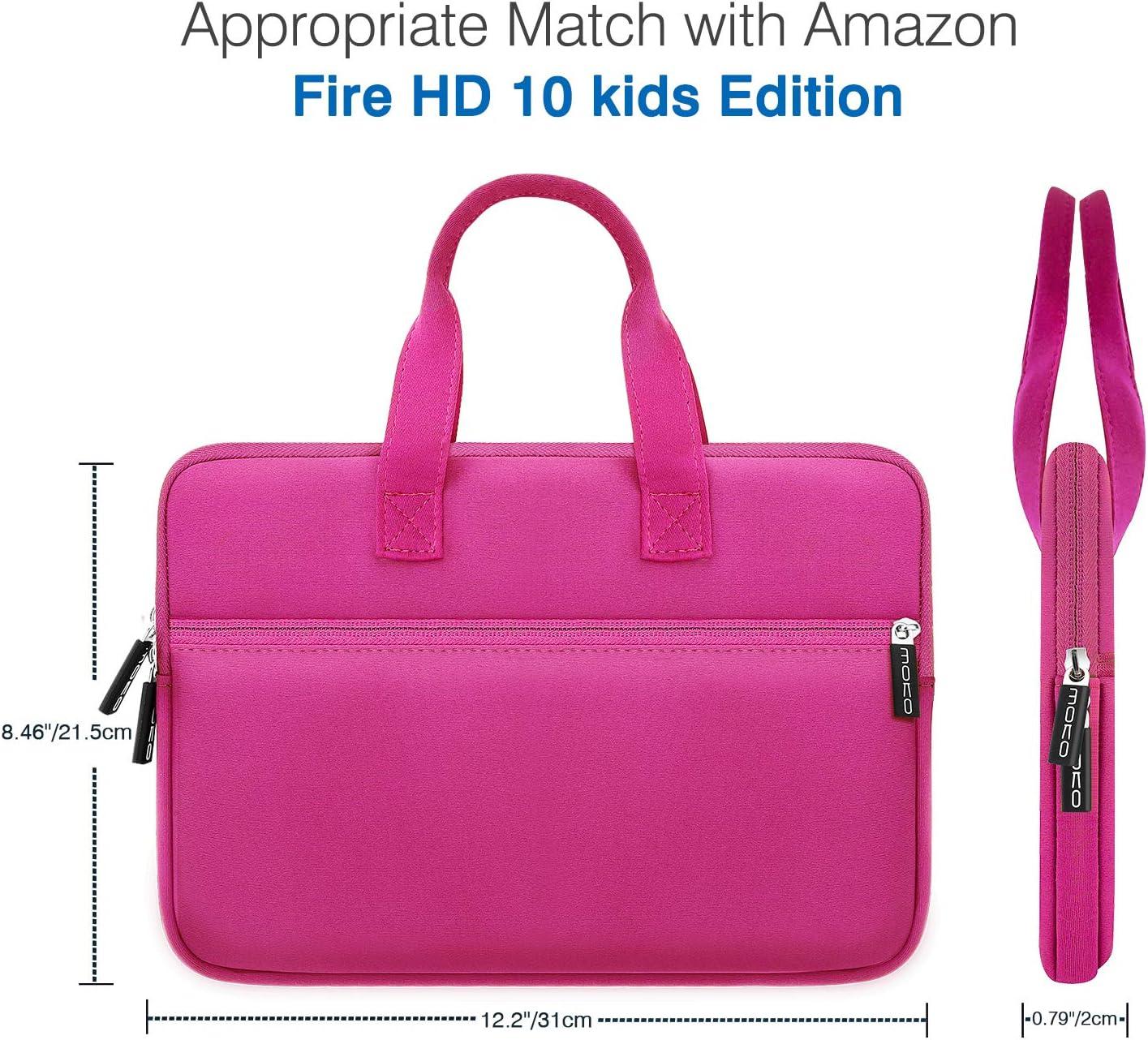 iPad Air 3 10.5 Magenta Portable Neoprene Zipper Carrying Sleeve Case Bag Fits iPad 10.2 2019 MoKo 9-10.5 Inch Kids Tablet Sleeve iPad Pro 11//10.5 Inch Tablet Handle Bag with Accessory Pocket