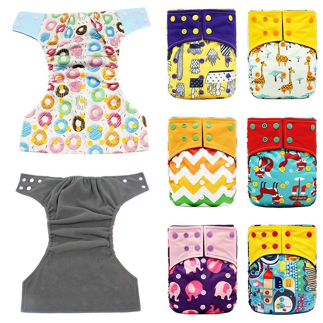 Loukou Infant Baby Training Pants Washable Breathable Comfortable Cloth Diapers by loukou