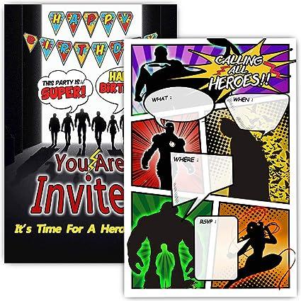 Amazon.com: 30 invitaciones de fiesta de cumpleaños de ...