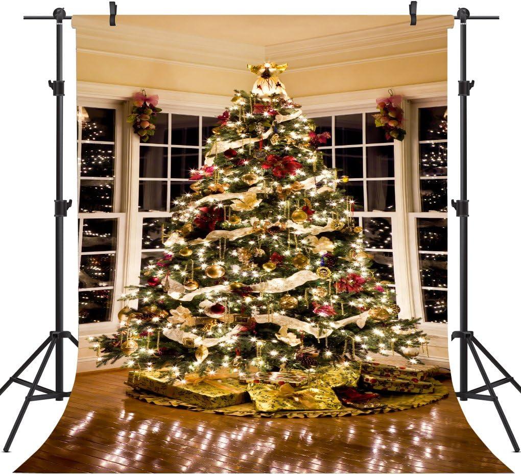 Christmas Tree Decorating Vinyl Photography Backdrop Photo Background