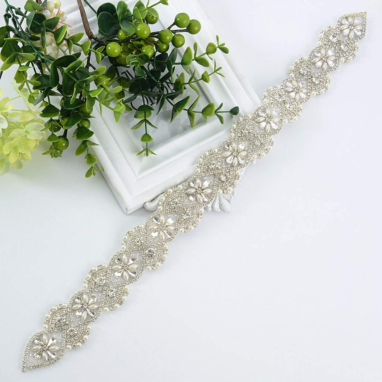 Women Queendream Rhinestone Sash Belt Rose Gold Wedding Dress Belt Black Ribbon Clothing Accessories Elektroelement Com Mk