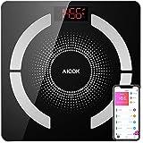 Aicok Báscula de Baño, Bluetooth Báscula Grasa Corporal con IOS y Android Smart App,
