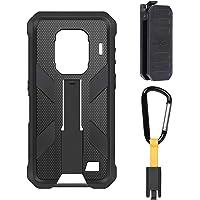Ulefone Armor 9 & Armor 9E mobiele telefoonhoes voor buiten Originele TPU-hoes met clip aan de achterkant (Zwart)
