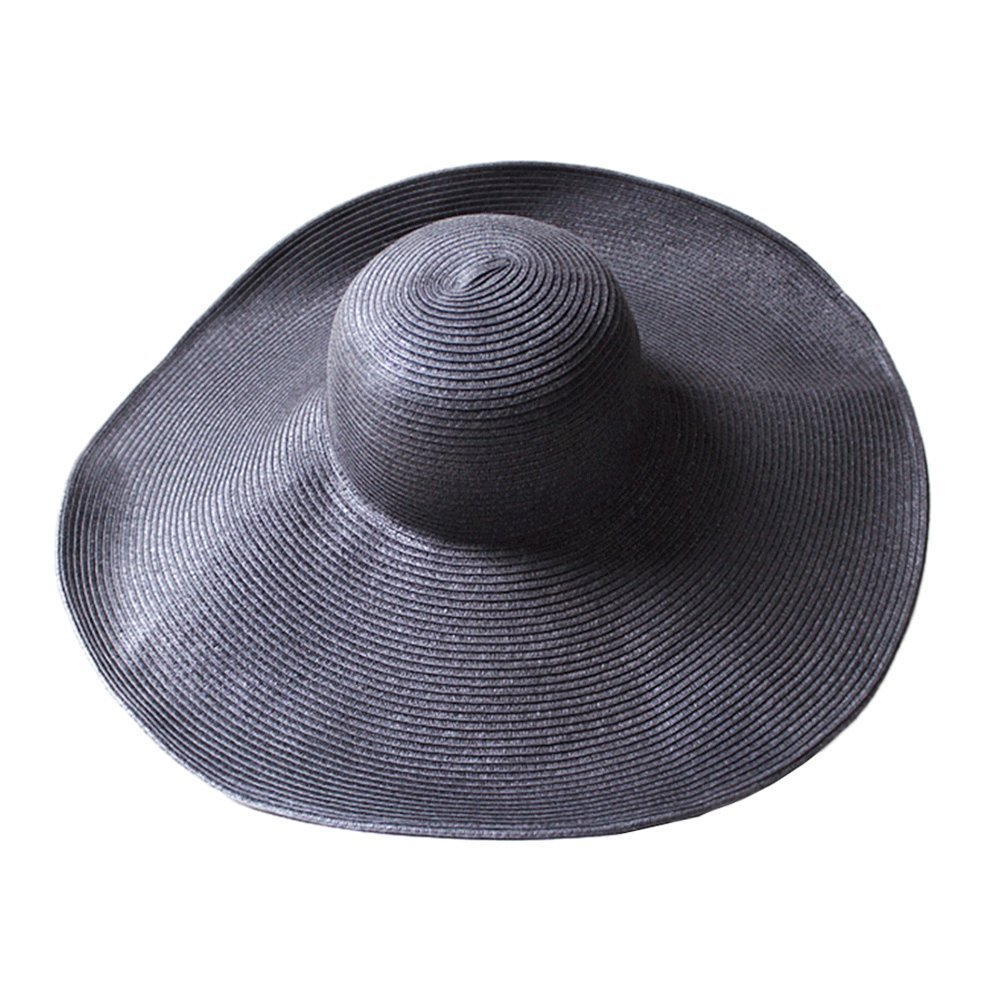 New Summer Fashion Foldable Wide Large Brim Floppy Sun Beach Hat Casual Vacation Travel Straw For Women Girls Amazoncouk Kitchen Home
