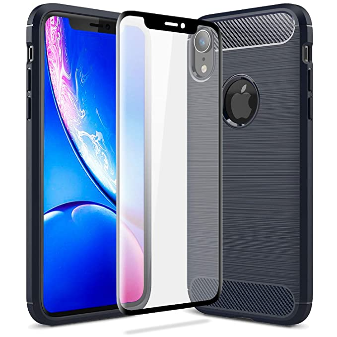 100% authentic b4679 615bc Amazon.com: Olixar iPhone XR Case with Screen Protector - Case ...