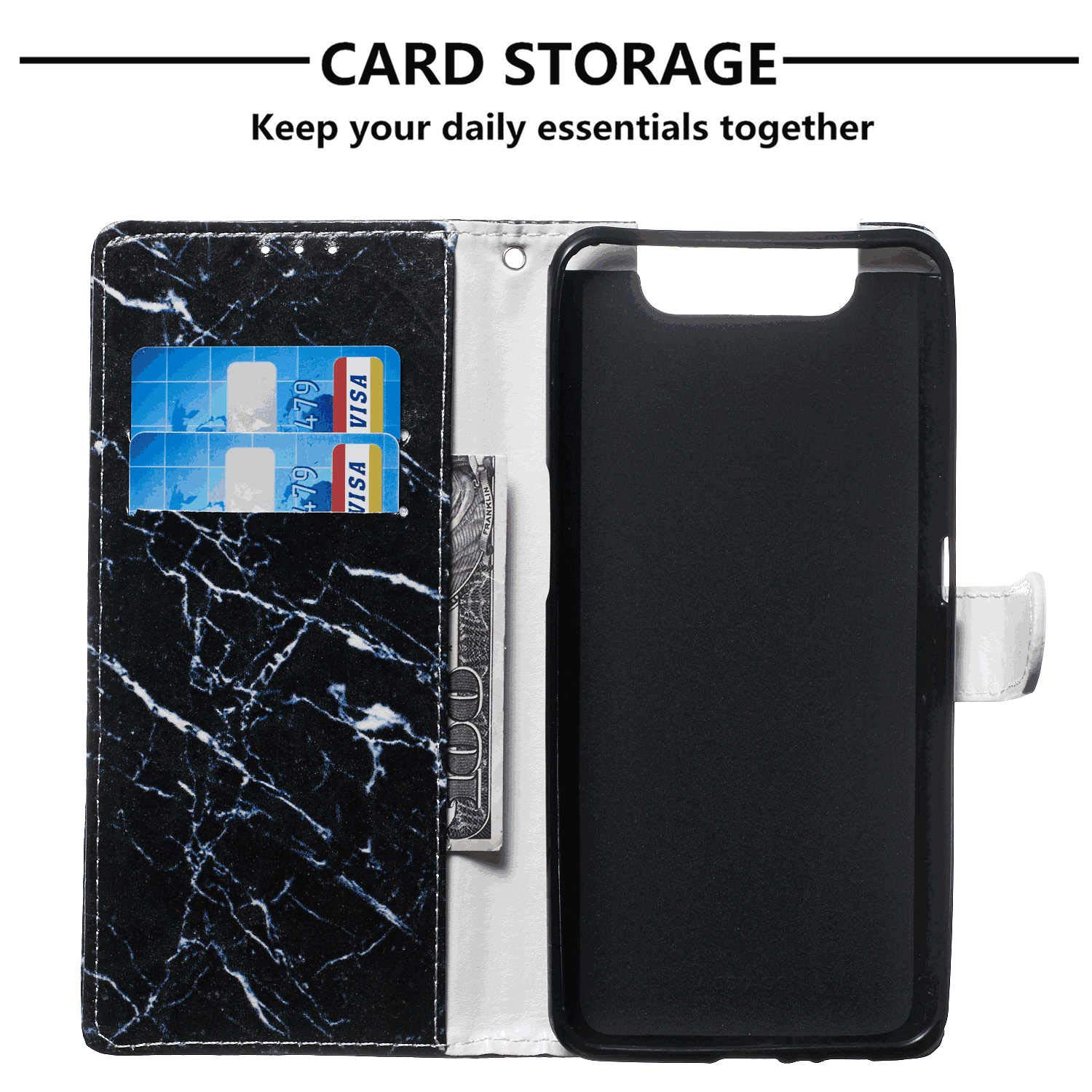 iPhone 8 Flip Case Cover for iPhone 8 Leather Kickstand Wallet Cover Card Holders Extra-Protective Business with Free Waterproof-Bag Delicate