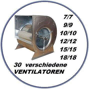 Ventilador radial industrial 9/9 para campana extractora, ventilación, clima, caja de salida, caja de ventilación,