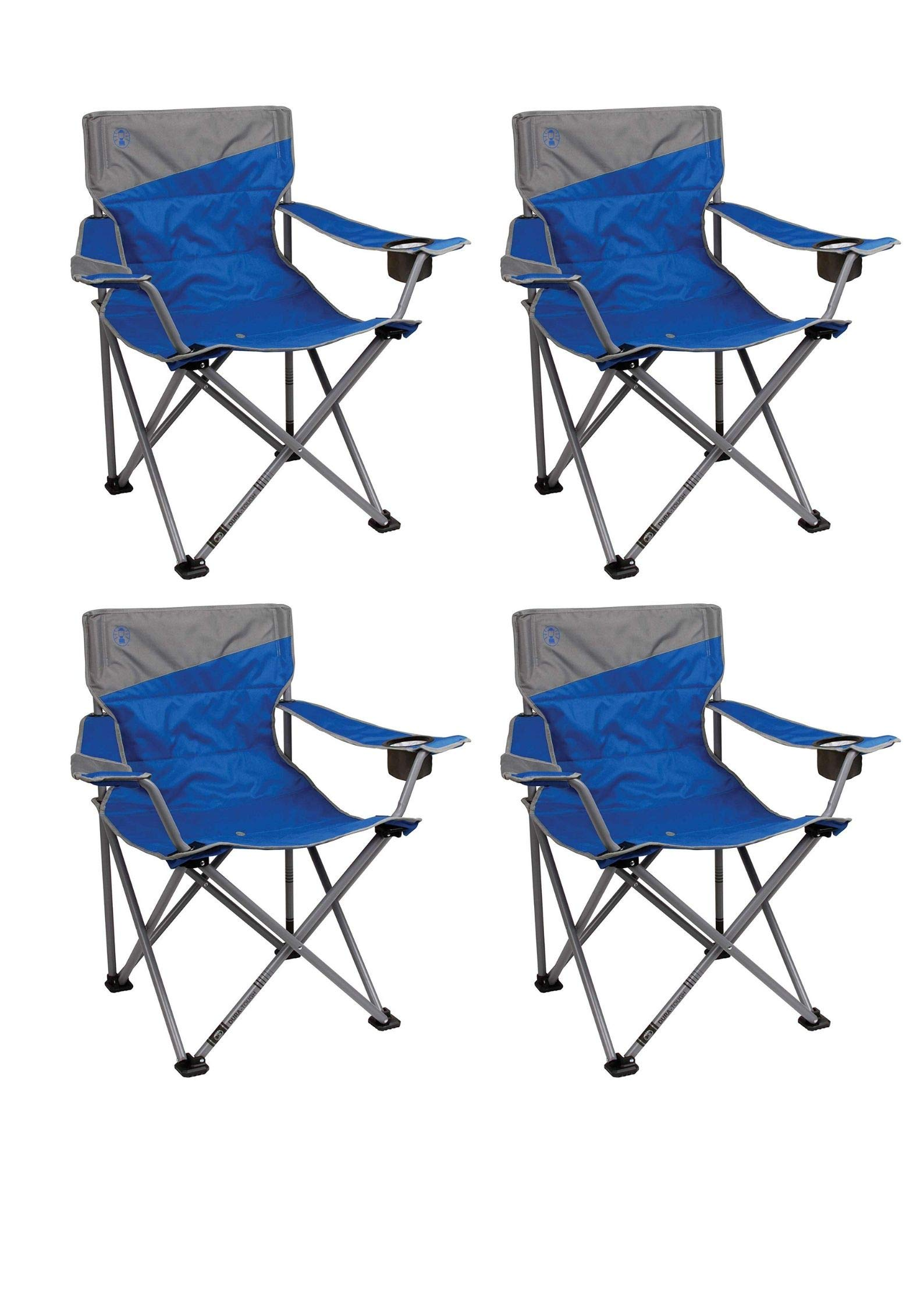 Coleman Big and Tall Portable Folding Camp Chair (Pack of 4) by Coleman