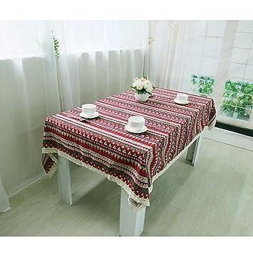 FPP toallas viento Selección Retro mantel la casa y jardín impresión toallas de algodón RED-9090 rojo: Amazon.es: Hogar