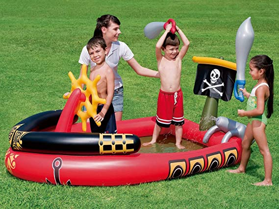 Bestway - Centro de juegos hinchable barco pirata (53041): Amazon ...