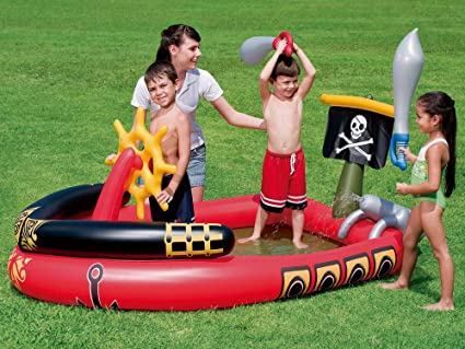 Amazon.com: h2ogo. Pirata centro de juegos piscina inflable ...