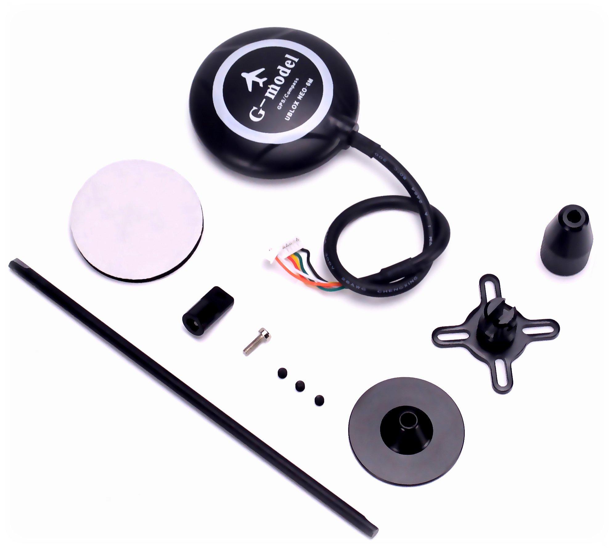 FPVKing 6M GPS Module Built-in Compass 5983 GPS +Black GPS Folding Seat Holder for FPV Multicopter APM APM2.6 APM2.8 Pixhawk Flight Controller