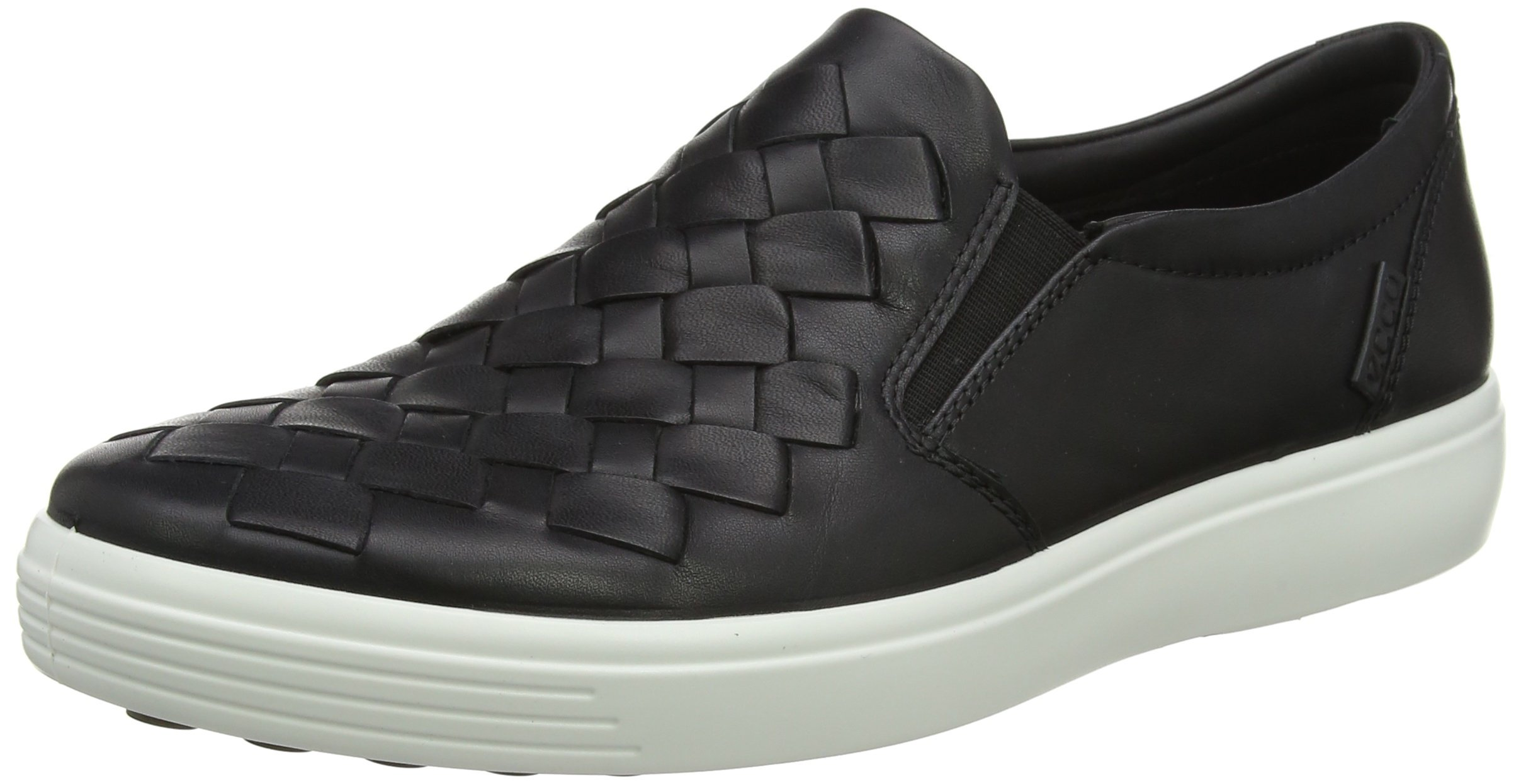 ECCO Men's Soft 7 Woven Slip On Fashion Sneaker, Black, 42 EU/8-8.5 M US by ECCO