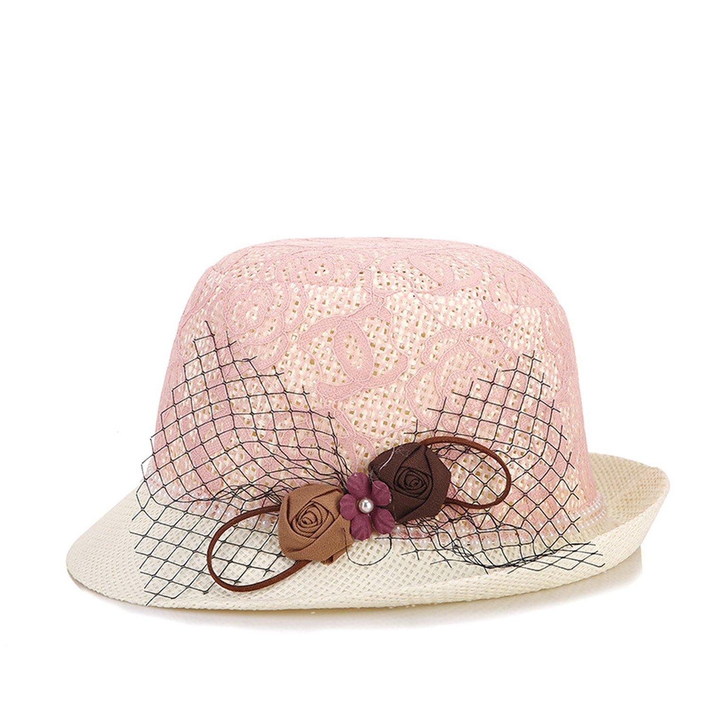 27c2fdf4465 Amazon.com  Hat Ladies Summer Urban Ladies Elegant Hat Tide Hat Sunscreen  Outdoor Hat a Generation