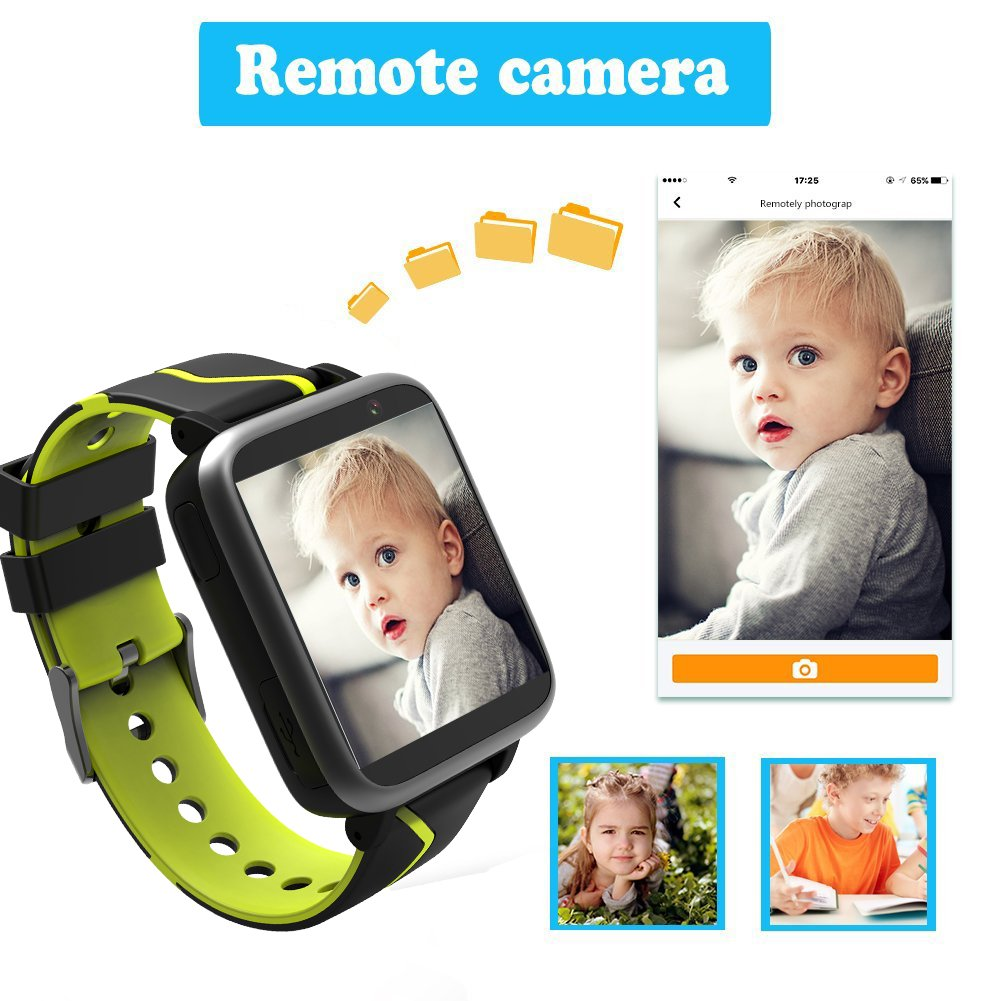 Jesam Kids Music Player Smart Watch - Smart Watch with Mp3 FM Player Watch [with 1GB Micro SD Card] and Camera Flashlight SIM Slot Phone Call Voice Chat for Students Age 4-12 (Black&Yellow) by Jesam (Image #6)