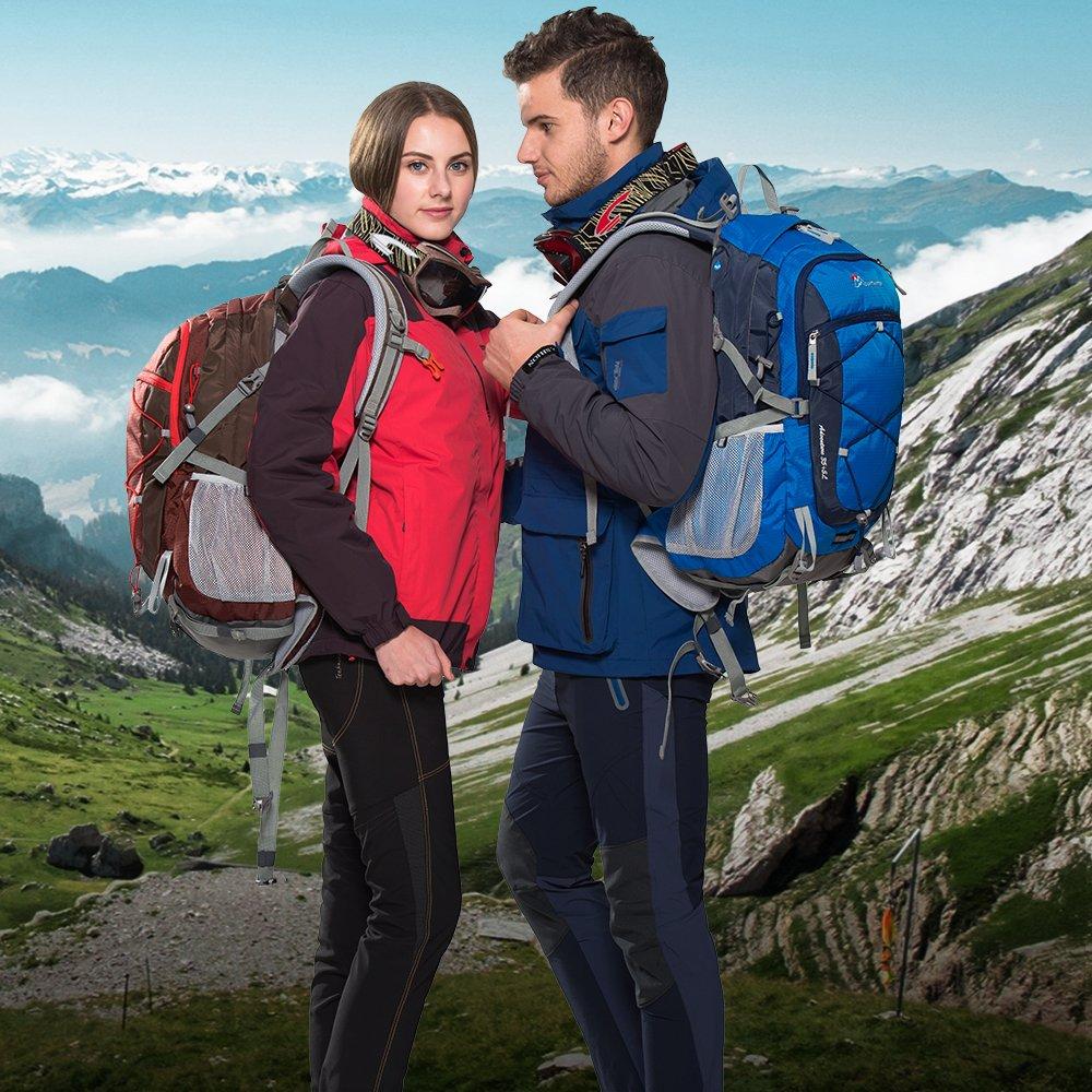MOUNTAINTOP 40 Litri Zaino Trekking Sportivo Outdoor Donna e Uomo Impermeabile per Campeggio Alpinismo Arrampicata Viaggio Bicicletta