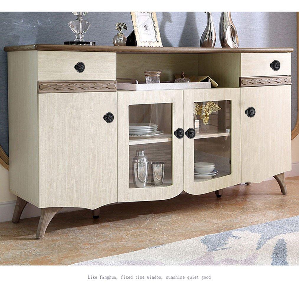 Amazon.de: Schwarz Hardware-Kabinett rund Knauf für Küche Home ...