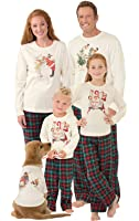PajamaGram Norman Rockwell Christmas Matching Family Pajamas, Multi
