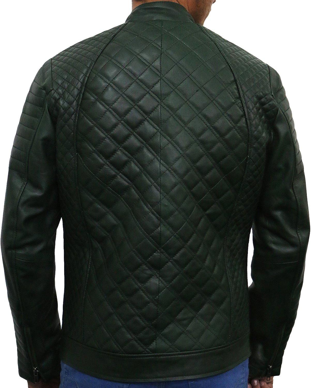 Laverapelle Mens Genuine Lambskin Leather Jacket Black, Quilted Jacket 1501491