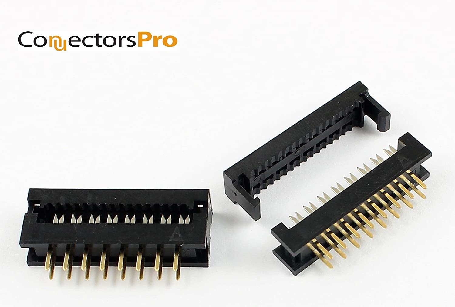 Amazon Com Connectors Pro Idc 2x8 16 Pins 2 54mm Male Dual Row Transition Plugs For 1 27mm Flat Ribbon Cable 10 Pack Fd 16p Home Audio Theater