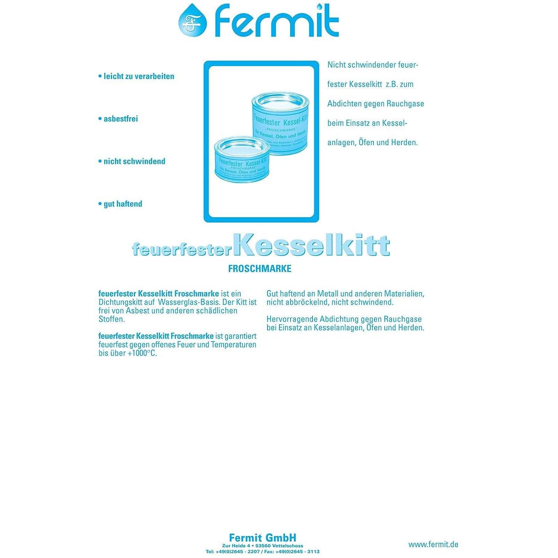 Fermit - Feuerfester Kesselkitt - Froschmarke 310 ml: Amazon.de ...