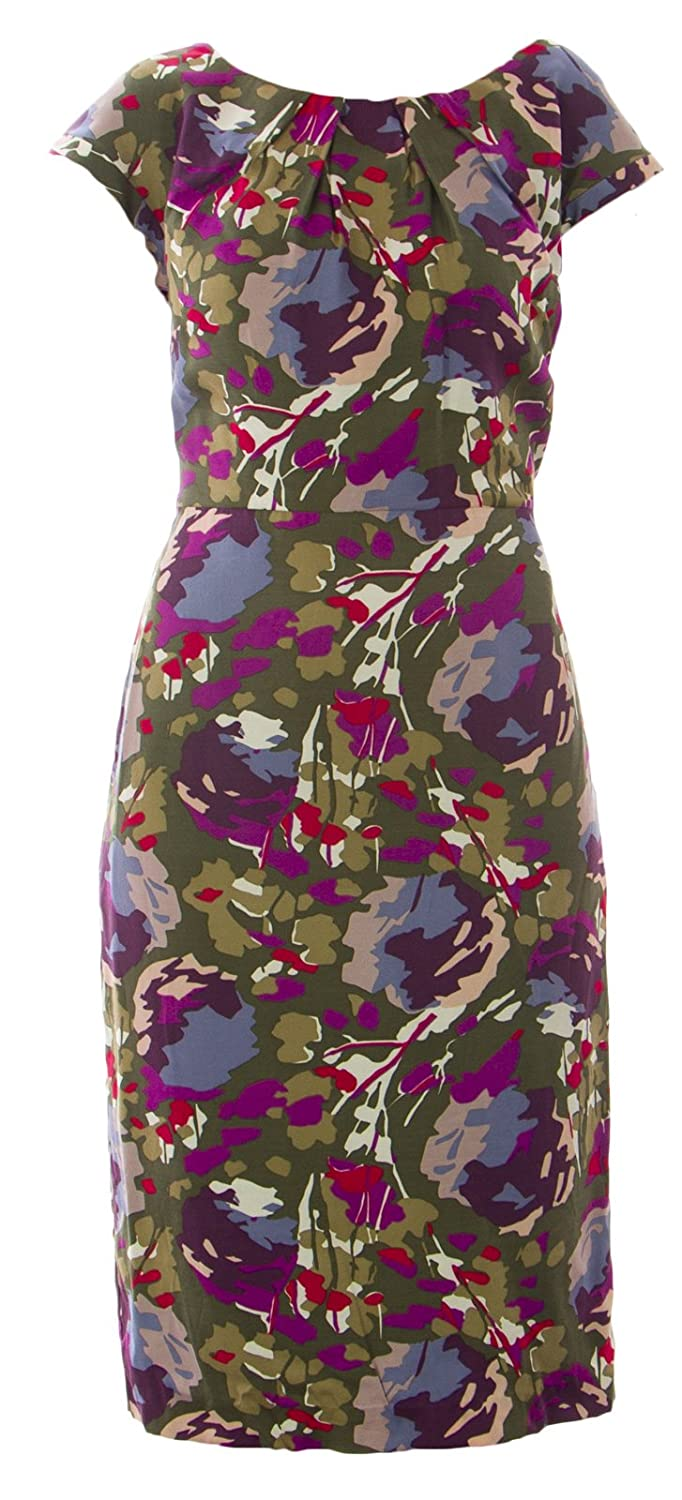 558517474b592e BODEN Women s Floral Natalie Dress US Sz 2R Brown Multicolored at Amazon  Women s Clothing store