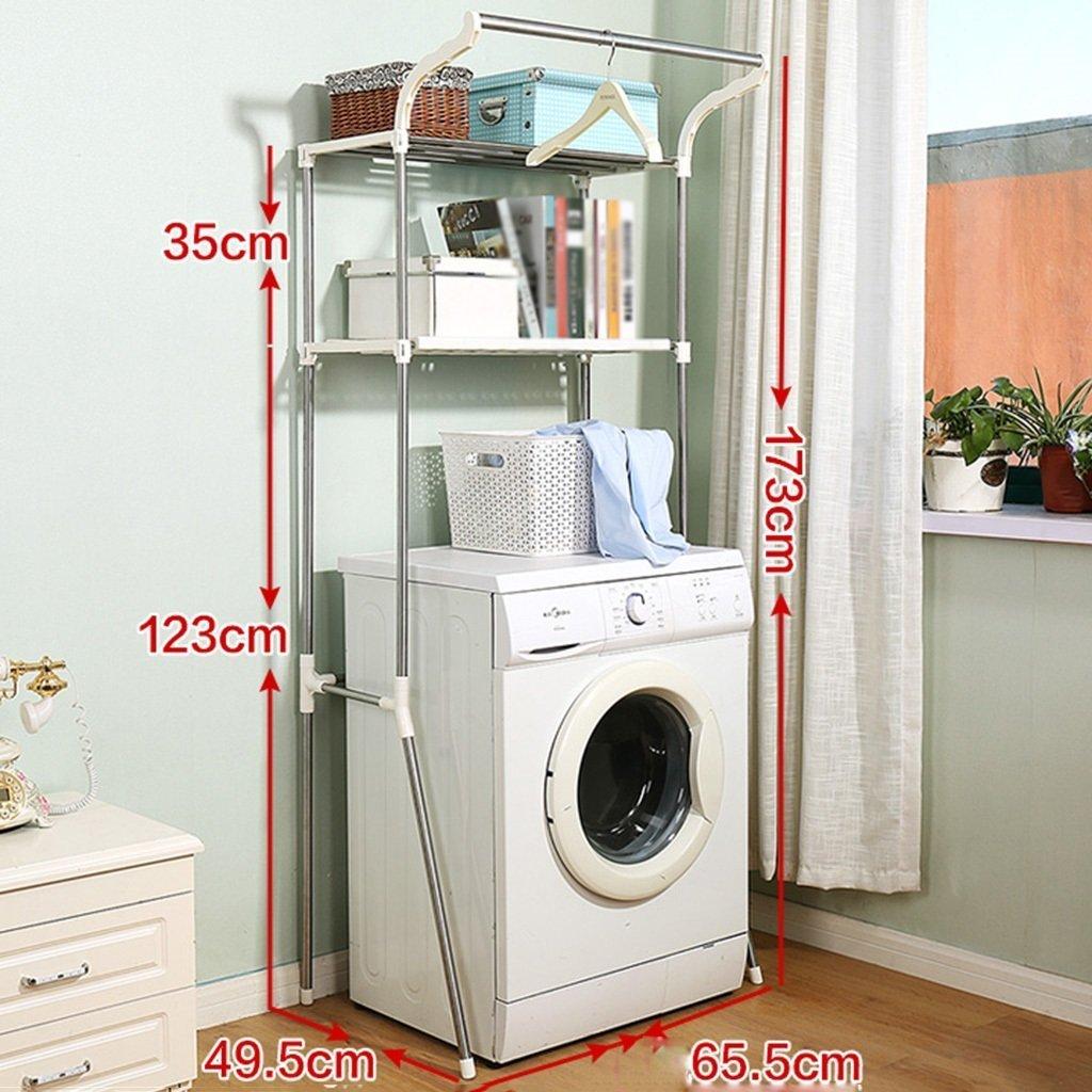 DIDIDD Shelf-Hwf Bathroom Shelves Bathroom Multi-Function Storage Rack Washing Machine Shelves(65.549.5173Cm)