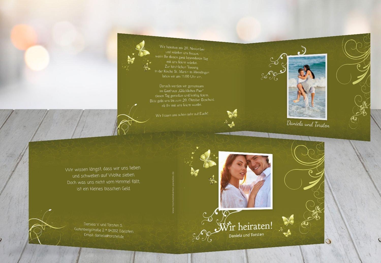 Kartenparadies Hochzeitskarte Hochzeit Einladung butterfly, hochwertige Einladung Einladung Einladung zur Heirat inklusive Umschläge   10 Karten - (Format  148x105 mm) Farbe  Lila B01NBX17FD | Qualitätsprodukte  | Bekannt für seine gute Qualität  | Moderater Preis  85773f