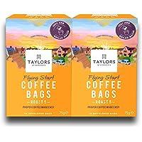 Taylors of Harrogate Flying Start Coffee Bags Twin Pack, 150 gm