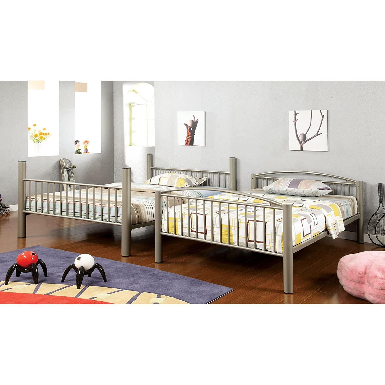 amazon com homes inside out iohomes metallic brillia bunk bed