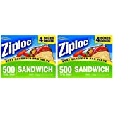 Ziploc Sandwhich KcEDQO Bag Easy Open Tabs, 500 Sandwich Bags (Pack of 2)